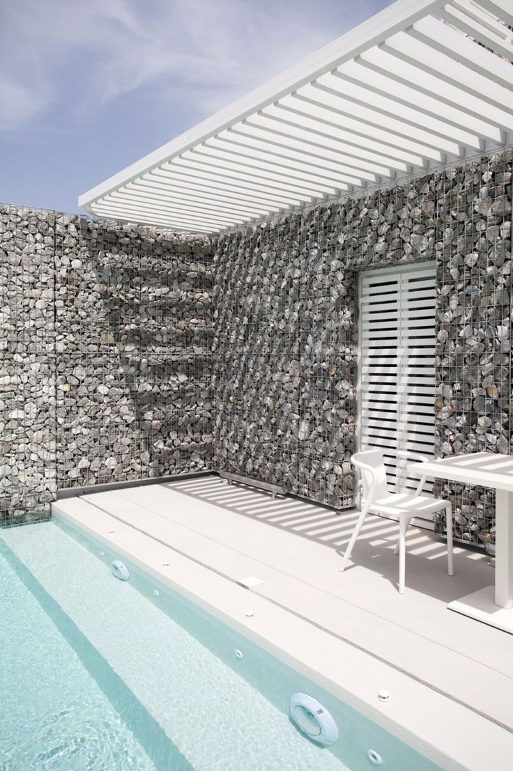 PERGOLA. GABIONS. Relux Ios Hotel by A31 ARCHITECTURE (9)