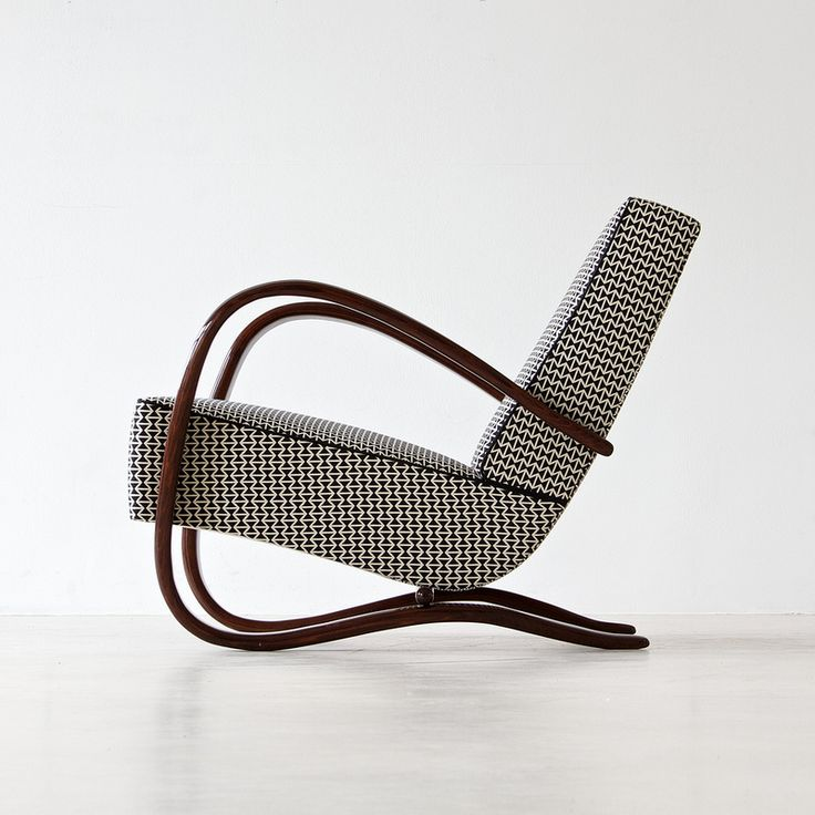 Design is fine. History is mine. — Jindrich Halabala, Streamline armchair, 1930. Made...