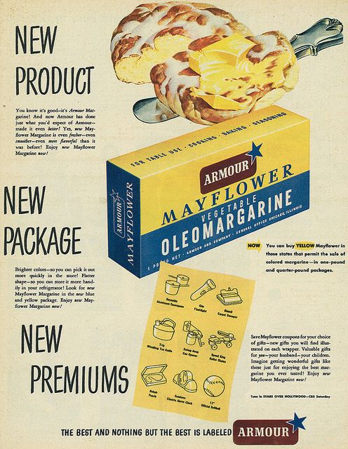 Armour Mayflower Oleomargarine ad, 1949.