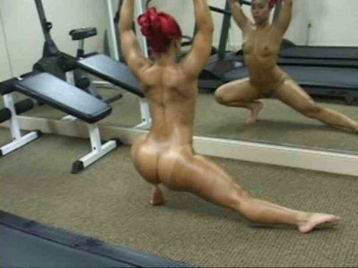 Girls working out in the nude-3893