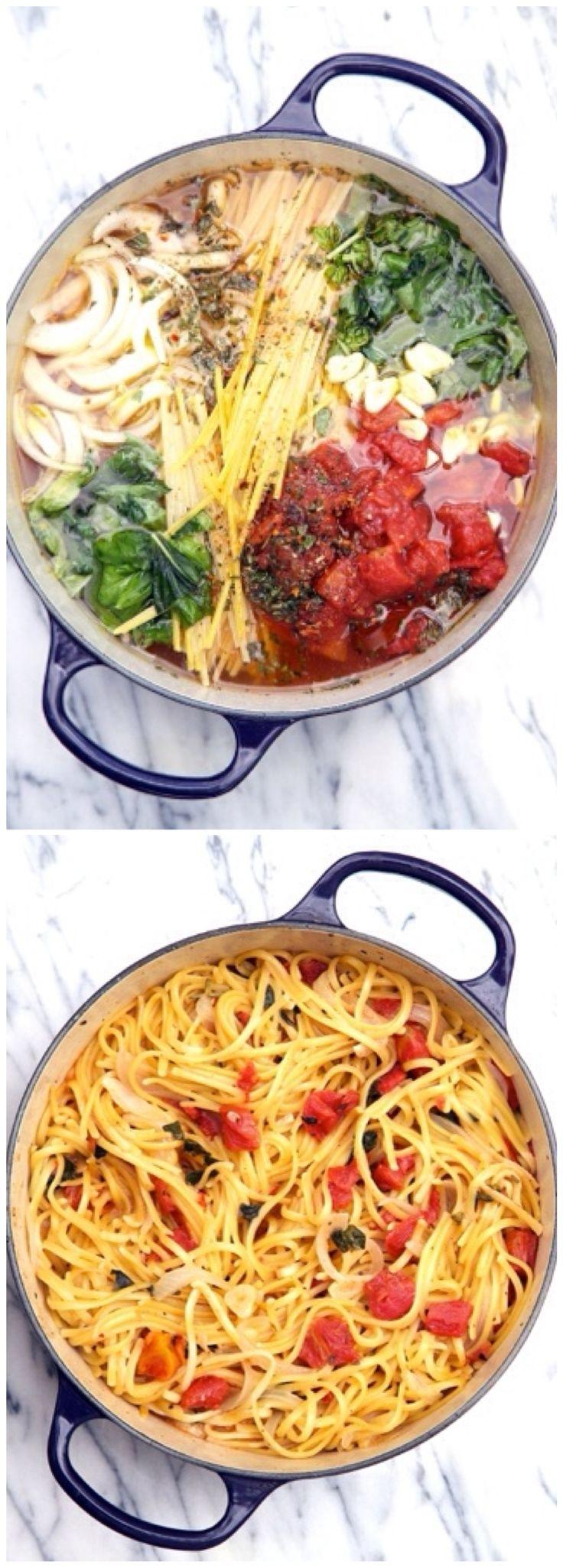 One Pot Wonder Tomato Basil Pasta.