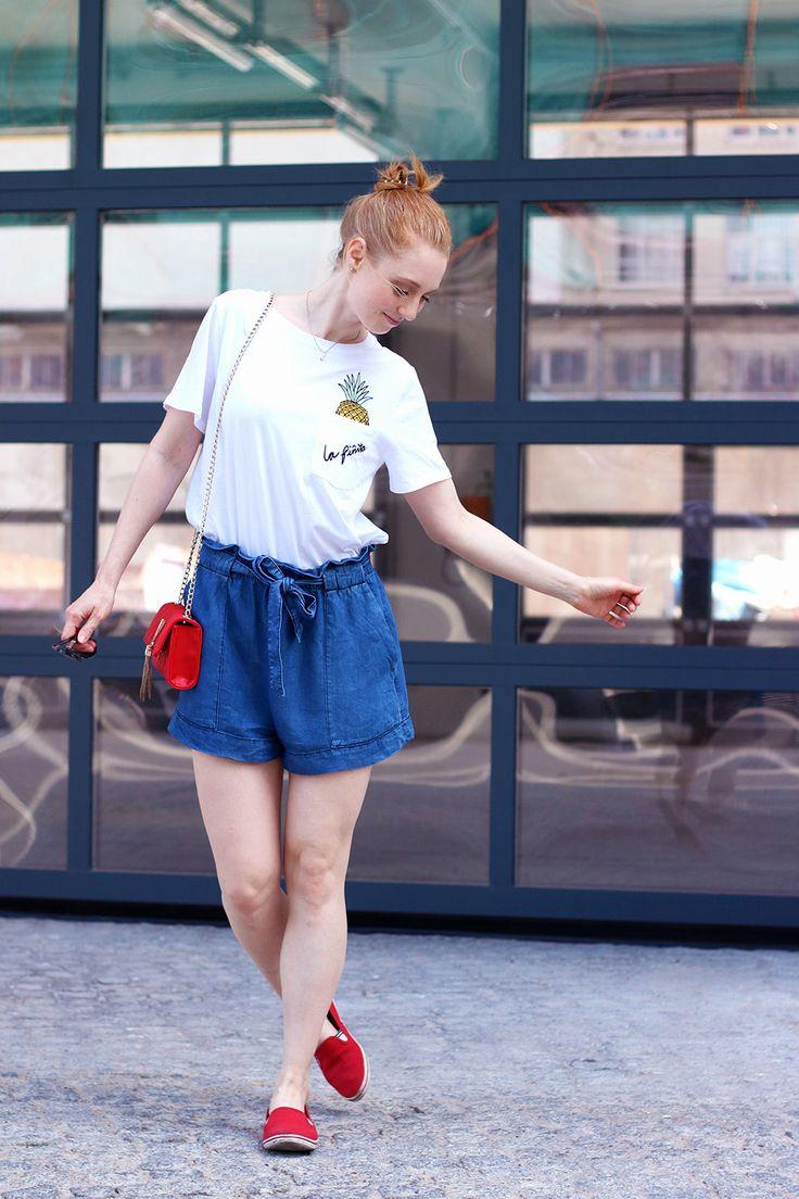 Blau, Jeans Shorts, Hose, Sommer Look, Outfit, Tipps, Streetstyle, Modetipps, Finde deinen Stil, Influencer, Deutschland, Berlin, Mode…