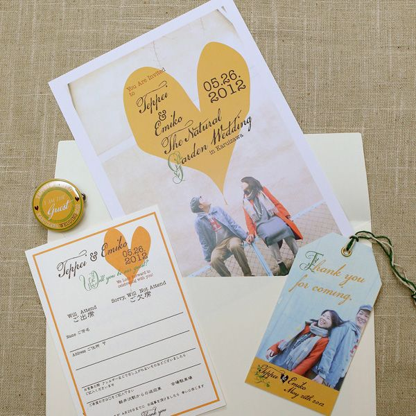Invitation set by AYANO TACHIHARA Wedding Design