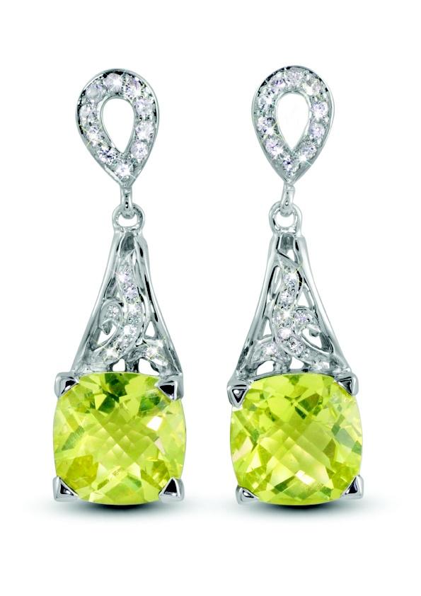 Nancie in Lemon Quartz With White Sapphires in Sterling Silver, $630, Moi Moi Fine Jewellery, Shop 16, Level 2, QVB