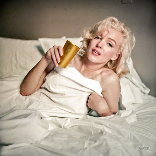 Milton H. Greene, Actress Marilyn Monroe in bed, LOOK magazine, The New Marilyn Monroe, August 1955