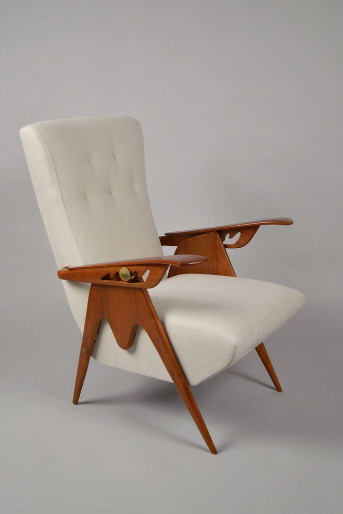 N-10247  Reclining Armchair, Art Deco, Italy, ca. 1935 #ArtDeco