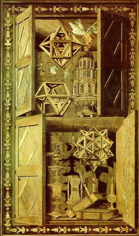 Intarsia Polyhedra - Fra Giovanni da Verona (Monastery of Monte Olivetto Maggiore, 1520)