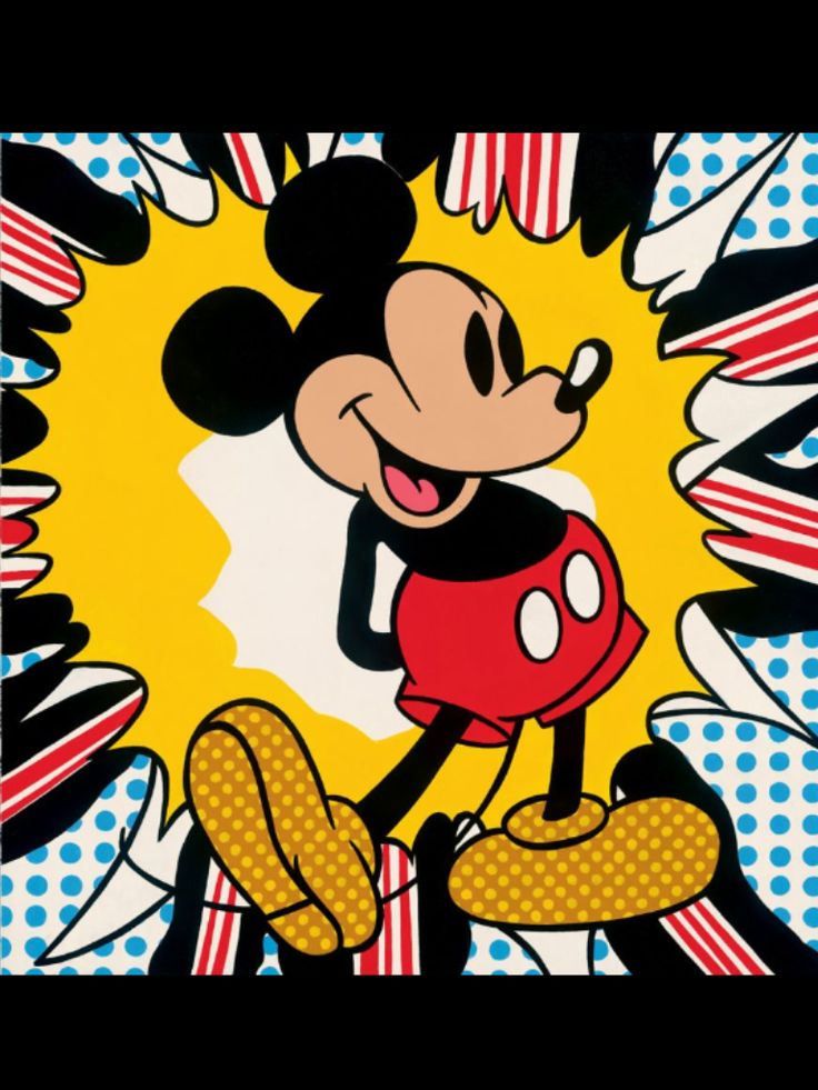 Pop Art Mickey Mouse, Andy Warhol, 1972.