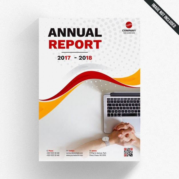 Wavy Annual Report Mockup Brochure Template Flyer Template