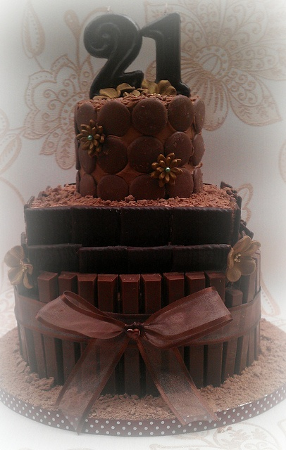 Chocolate overload cake, I like the different layers, I would use different types of candy on each layer....