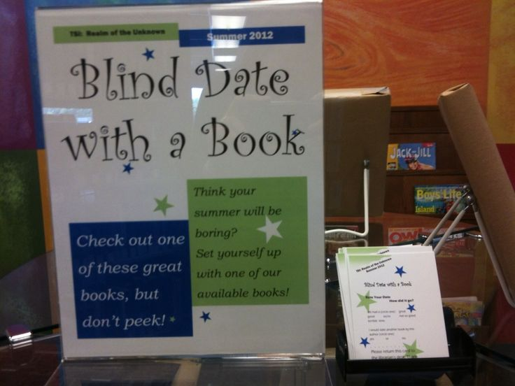 What Happens In Storytime...: Display - Blind Date with a Book