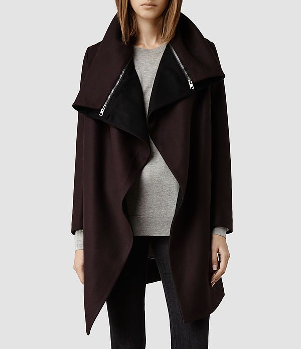 Womens Jax Coat (Burgundy) - product_image_alt_text_1