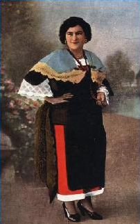 Costumi calabresi:Nicastro (CZ) Cartolina nuova anni '30 -'40