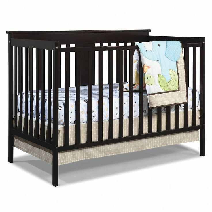 Stork Craft Mission Ridge 3-in-1 Fixed Side Convertible Crib - white