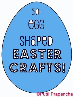 Over 50 Egg shaped kids craft ideas for Easter #easter