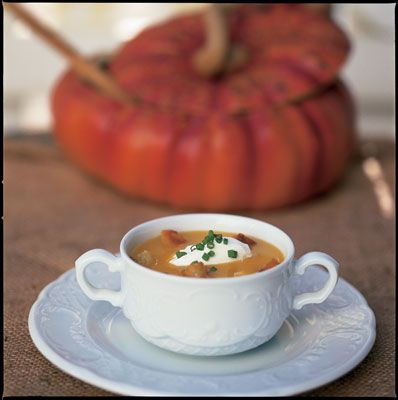 Butternut Squash Soup with a Nutmeg Cream by Chef Michael Salmon