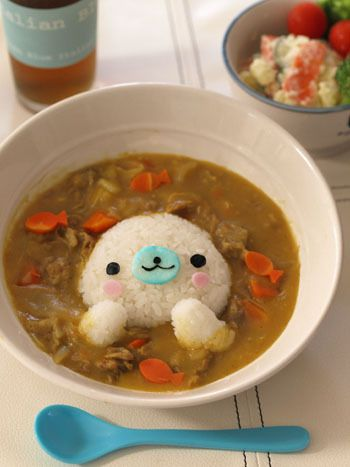 Little seal rice curry