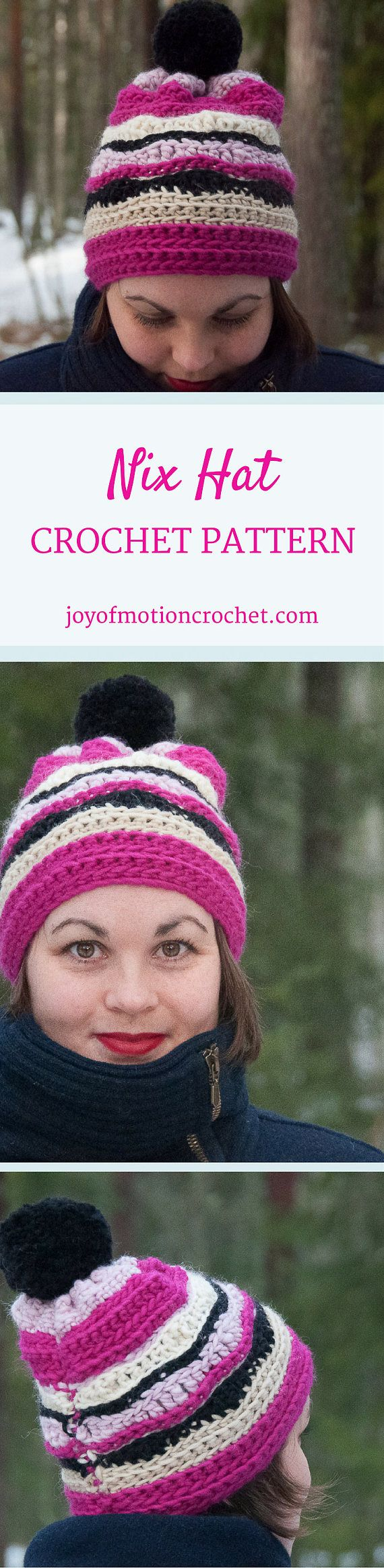 Nix Hat Crochet Pattern ★ Crochet pattern for the Nix Hat, a striped winter hat/beanie. ★ Easy to modify if you want to change the size. ★ Size: 12-18 months, 18-24 months, 2-5 years, Child, Teen, Adult Woman, Adult Man ★ Skill level: EASY ★ Language: English / US crochet terms. Nix Hat Crochet Pattern The Nix hat crochet pattern is a pattern for a striped warm winter hat. This beanie pattern has a huge size range from 12 months to adult size. Put this to use & keep yourself ...