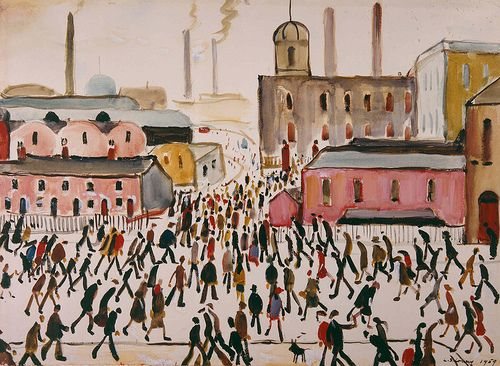 """L.S. Lowry """"Going to Work""""    1959, The Lowry Collection, #Salford"""