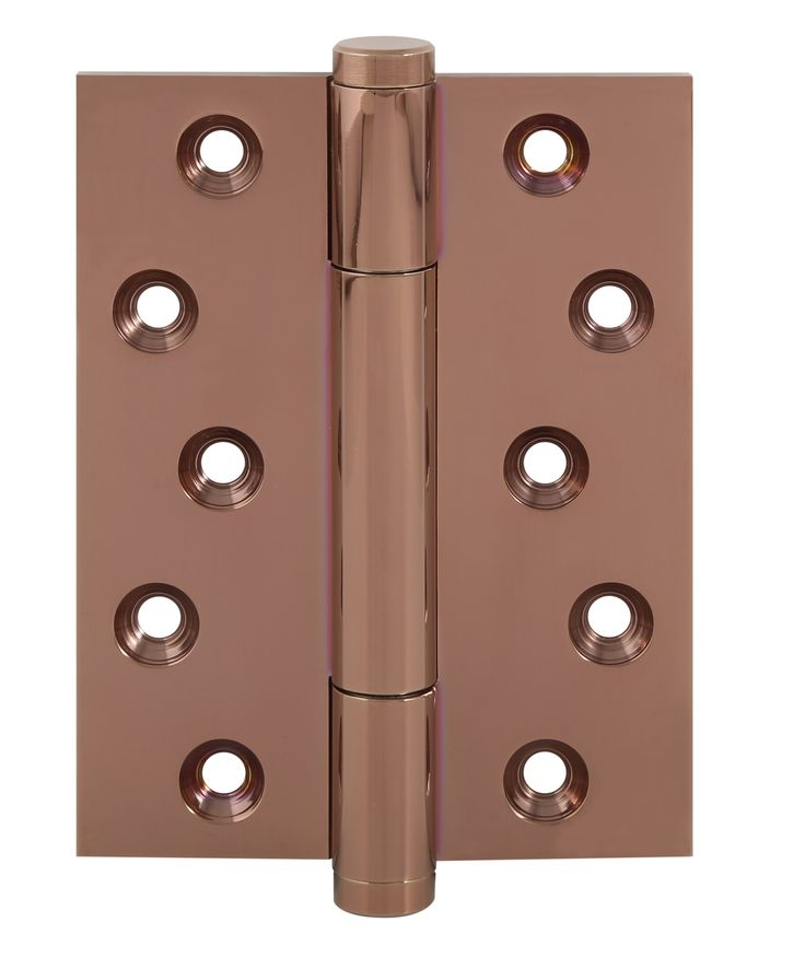 TRITECH-PVD copper rose finish. Solid brass concealed bearing hinge. Weight carrying capacity to 160kg. Suitable for heavy weight flush doors tested to BS EN 1935 grade 14. CE marked 30 & 60 min fire door rated.