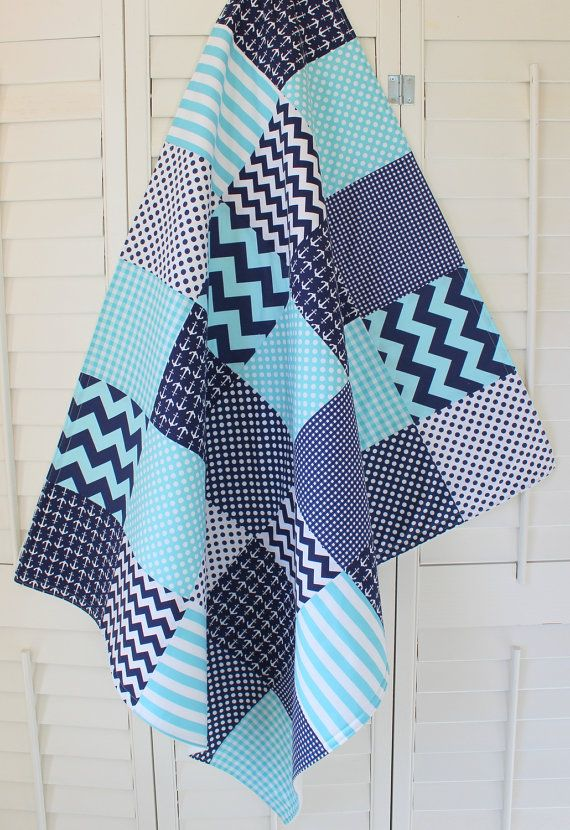 Baby Boy Blanket Fleece Blanket Anchor Crib By
