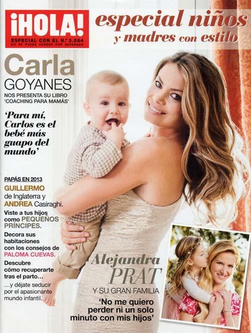 """Carla Goyanes posa junto a su hijo en nuestro """"Especial niños y madres con estilo"""", de regalo con la revista ¡HOLA! de esta semana"""
