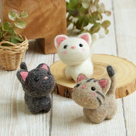DIY handmade Wool Felt kit Little kitten- Japanese kit package H441-483