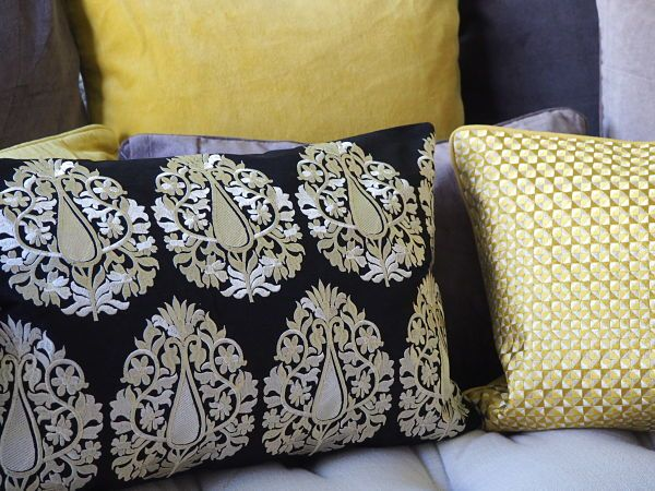 "Esthetic Living - Cushion Cover - Paisley Black - 13""x 20"", $69.95 (http://estheticliving.com/cushion-cover-paisley-black-13x-20/)"