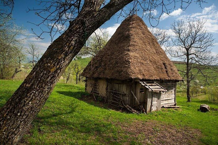 Traditional old house. Romania. The rustic architecture, which is the most complete, the most expressive creation of the old rural societies, reveals the way of living, the technical, social and spiritual acts of the old Romanian society. Go back in time and live the rural lifestyle of the Romanian Villages- www.romaniasfriends.com