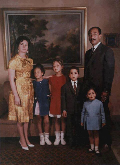 Sadat family Ex- Egyptian president. Oct. 1973 war