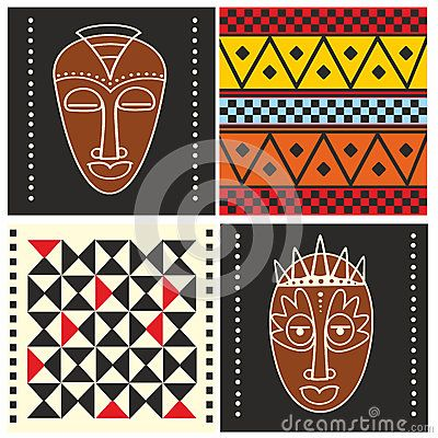 African pattern design - 4 x example inspiration