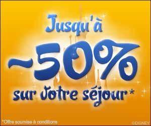 Ventes flash DisneyLand Paris : des séjours jusqu'à 50% moins cher + gratuité pour les enfants de moins de 7 ans   Maxi Bons Plans