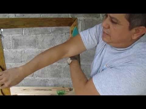 Cómo hacer un marco para espejo sin ser carpintero - YouTube