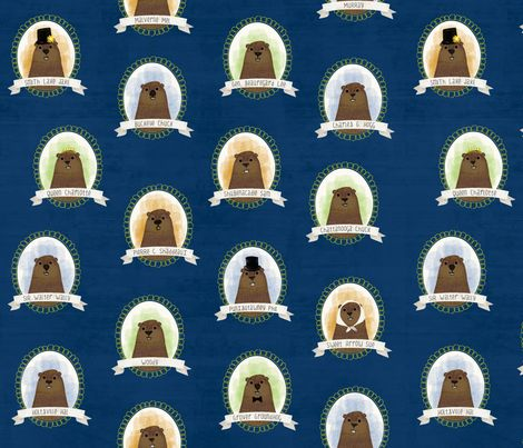 Know Your Famous Groundhogs fabric by jenimp on Spoonflower - custom fabric
