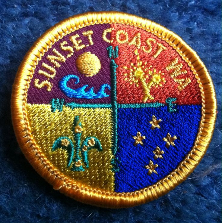 The new Sunset Coast District Badge.