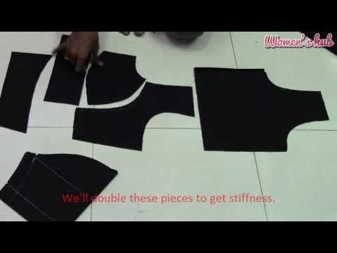 Double Katori Blouse - 3. Cutting the Cloth - YouTube