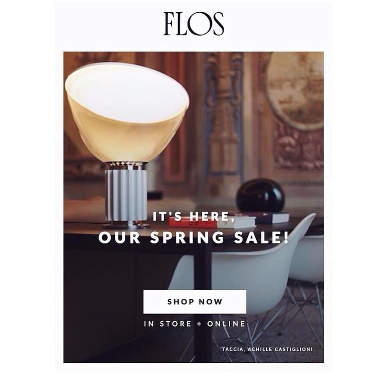 @FLOS_usa opens its Spring Sale today with 15% off FLOS favorites including designs by Patricia Urquiola Philippe Starck Michael Anastassiades the Bouroullec Brothers & many more. Shop the showroom at 152 Greene Street in the SoHo Design District or visit usa.flos.com through March 16th with code SPRINGSALE2016  . . . sale excludes superloon and replacement parts