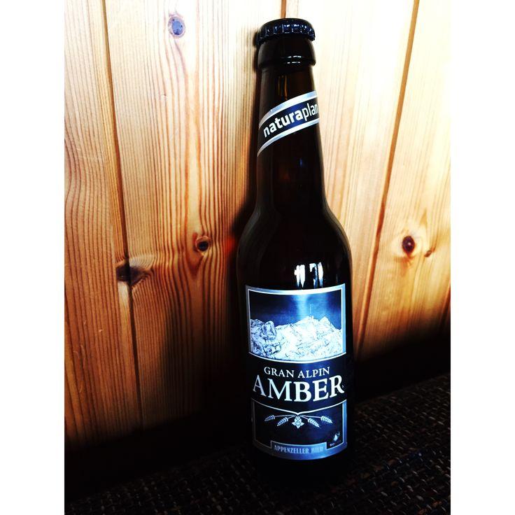 Gran Alpin Amber, Appenzeller Bier, Schweiz, getrunken an der #Lenk. Februar 2018.  #Prost  #biertagebuch #Bier