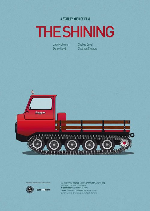 the shining vehicule film Cars and Films : Posters de voitures de films