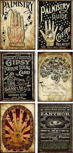 You don't have to be psychic to see all of the creative possibilities with these Palmistry Tags by Hope Photo Art — available for instant download on e-crafting.com.