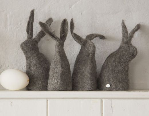 Beautifully felted egg cosies. Not only for easter!