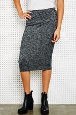 Sparkle & Fade Marl Pencil Skirt in Charcoal at Urban Outfitters