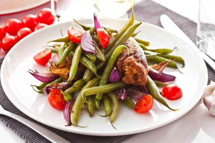 Kawałki kurczaka z fasolką szparagową  #smacznastrona #przepisytesco #poradytesco #food #fasolkaszparagowa #kurczak #pycha