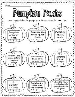 Sarah's First Grade Snippets: Pumpkin Freebies and a Winner