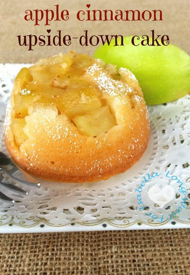 apple cinnamon upside down cake recipe