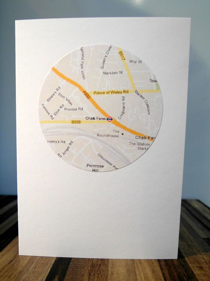 New Home Card Custom Personalised Handmade Map Address Announcement Moving House. £1.60, via Etsy.