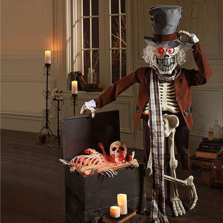 shop for halloween skeletons and skeleton decorations from grandin road halloween haven these halloween skeleton props will complete your spooky display - Grandin Road Halloween Haven