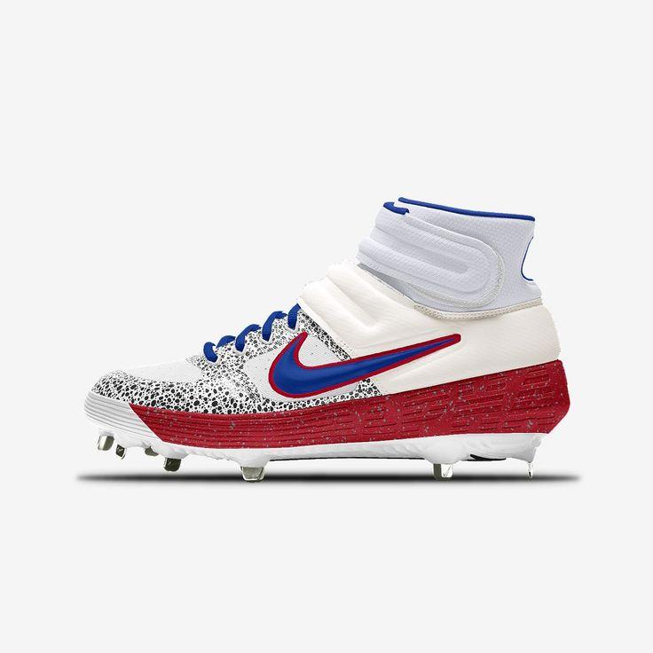 Nike Alpha Huarache Elite 2 Mid Metal Premium By You Baseball Cleat Size 10 Multi Color Nike Baseball Cleats Baseball Shoes