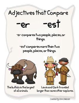 ADJECTIVES THAT COMPARE ER AND EST - TeachersPayTeachers.com
