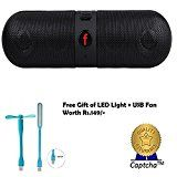 Sony Xperia Z Compatible Ceritfied Portable HiFi wireless Bluetooth Pill Speaker TF Card MP3 Player Mobile Phone Handfree Mic Stereo Audio mini Speaker Supported Devices (Assorted Color) with FREE GIFTby captcha78% Sales Rank in Electronics: 395 (was 705 yesterday)(15)Buy: Rs. 598.003 used & new from Rs. 598.00 (Visit the Movers & Shakers in Electronics list for authoritative information on this product's current rank.)